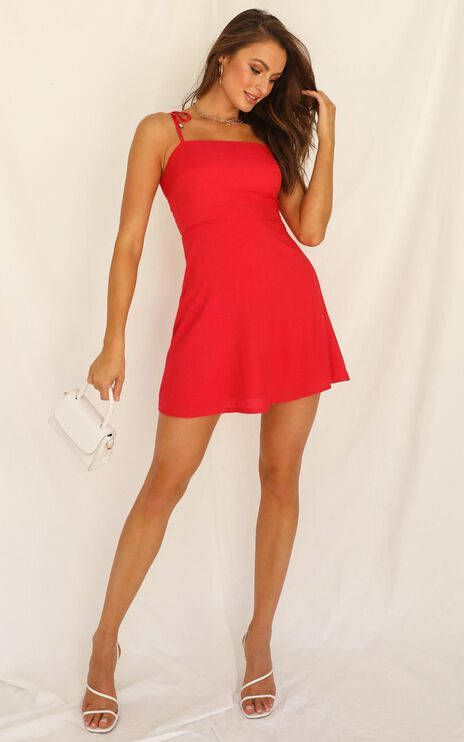 Afternoon Glow Dress In Red