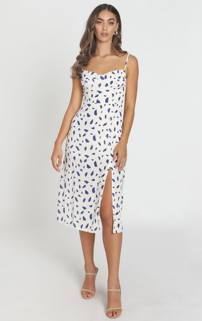 Learn To Let Go dress in white print - 6 (XS), White, hi-res image number null