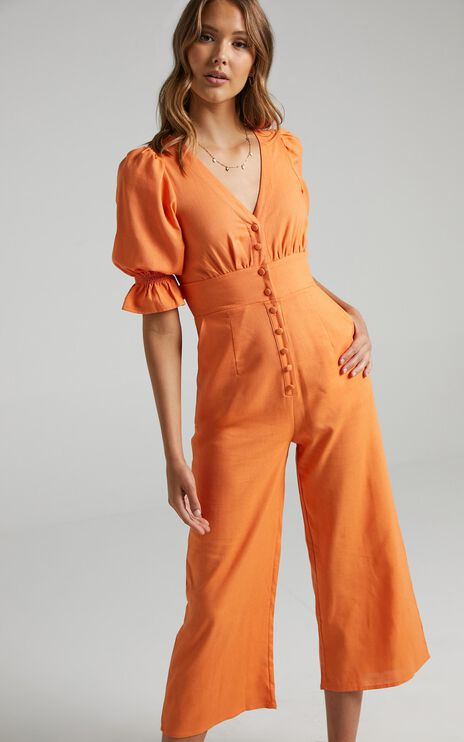 Arna Jumpsuit in Tangerine
