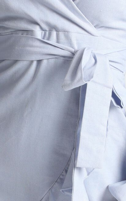 Cant Move On Dress in powder blue linen look - 20 (XXXXL), Blue, hi-res image number null