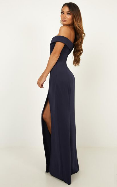 One For The Money dress in steel blue - 4 (XXS), Blue, hi-res image number null