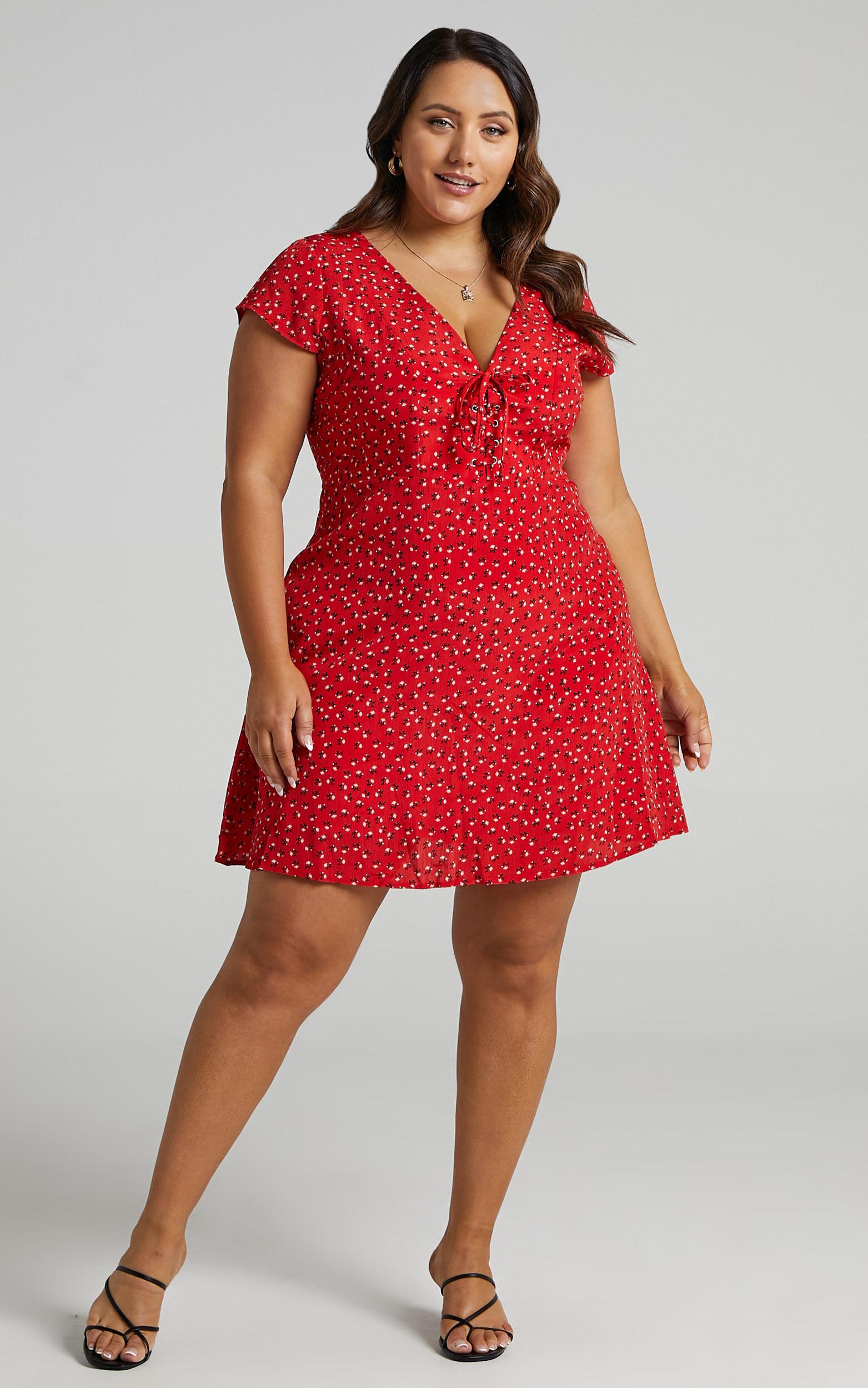 Secret Cure Dress in Red Print - 20, RED3, super-hi-res image number null