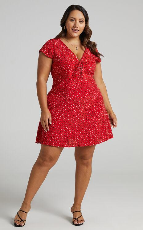 Secret Cure Dress in Red Print