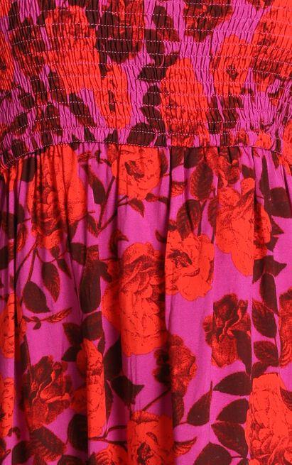 Heart Bursting dress in pink floral - 16 (XXL), Pink, hi-res image number null