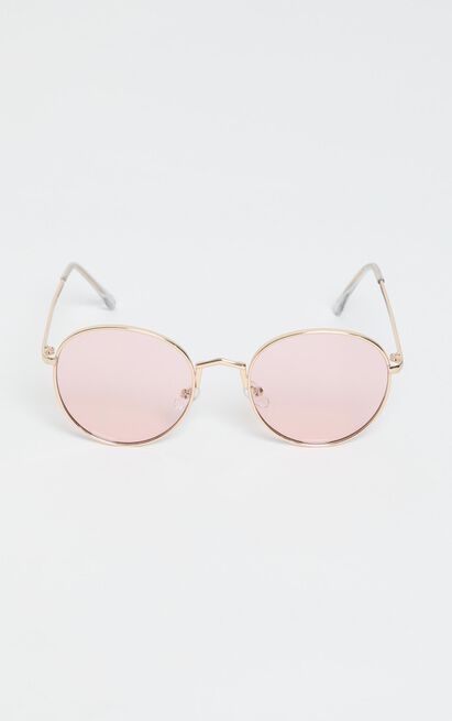 Desert Drive Sunglasses In Gold/Pink, , hi-res image number null