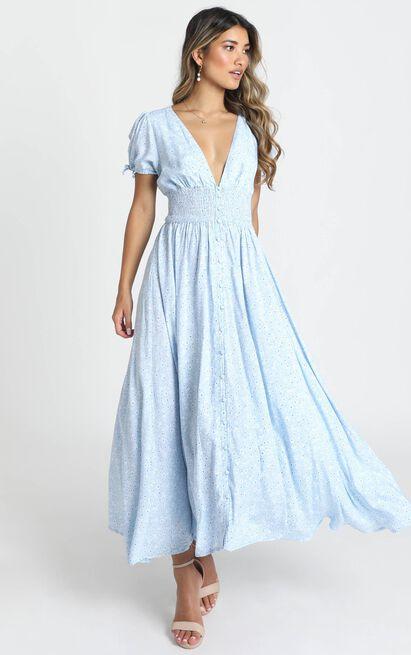 Sascha Dress in blue floral - 14 (XL), Blue, hi-res image number null