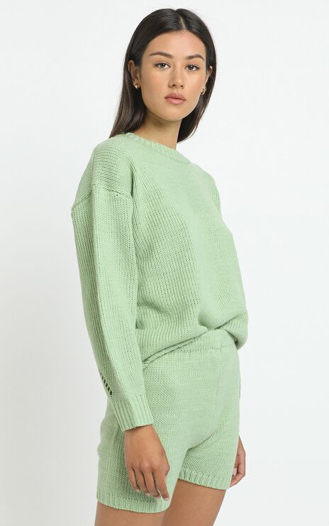 Becca Knit Shorts in Green