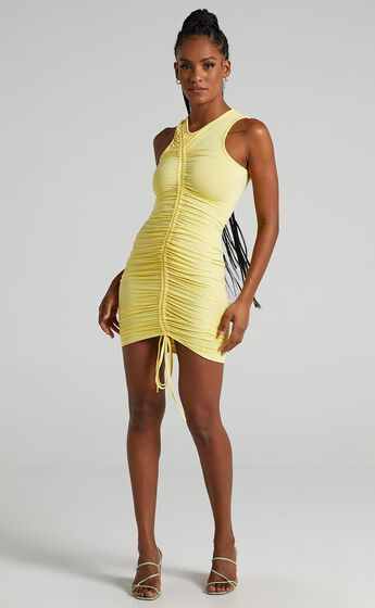 Cammy Midi Dress in Lemon