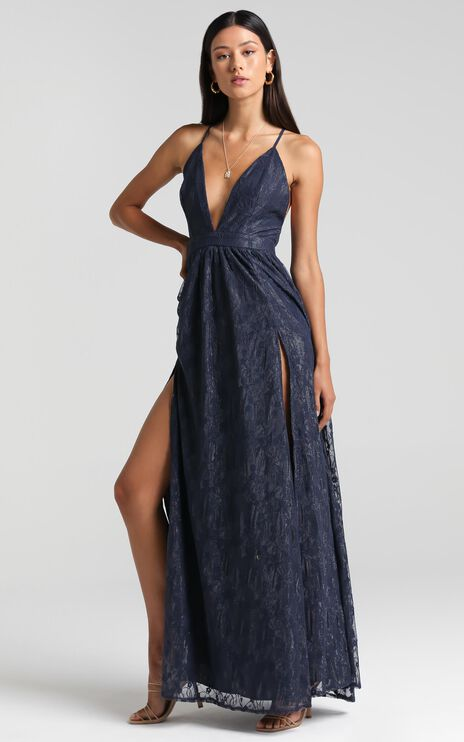 See Some Places Dress in Navy Lace