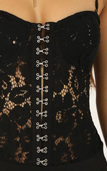 Modern Glamour Bodysuit in black lace - 20 (XXXXL), Black, hi-res image number null
