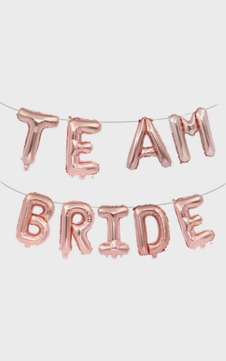 Team Bride Balloon Banner