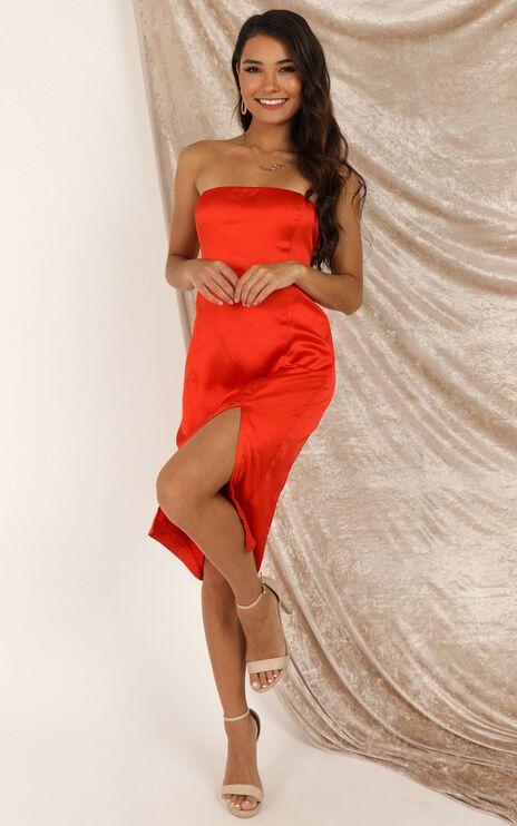 Darling Please Dress In Tangerine Satin