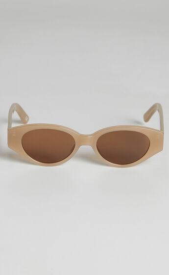 Luv Lou - The Joanie Sunglasses in Beige