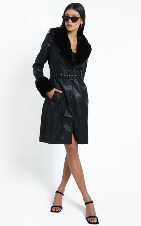 Lioness - Brooklyn Long Coat in Black