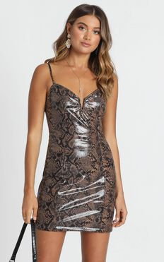 Lady Of Love Dress In Snake Print