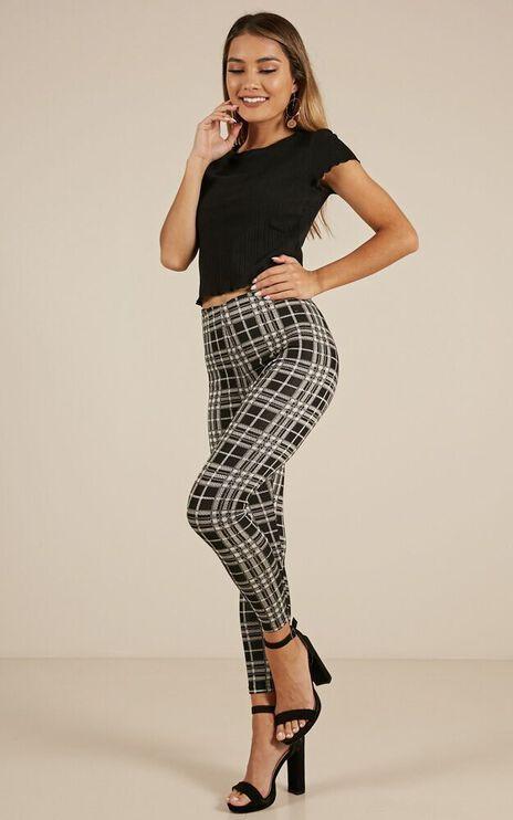 Brooklyn Baby Pants In Black Check