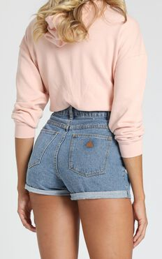 Abrand - A High Relaxed Denim Shorts in La Blues