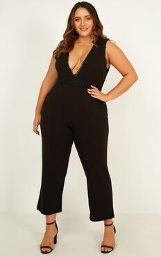 Miss A Second Jumpsuit In Black