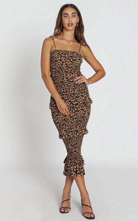 Chloe Dress in Leopard Print