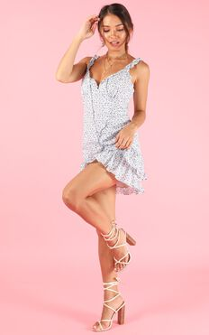 Up And Up Dress In Blue Floral