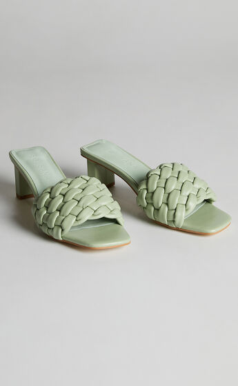 Sol Sana - Matias Mule Heels in Cucumber