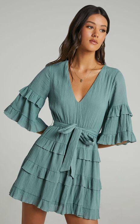 Meet Me In The Sun Dress in Sage
