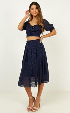 Pacific Drive Two Piece Set In Navy