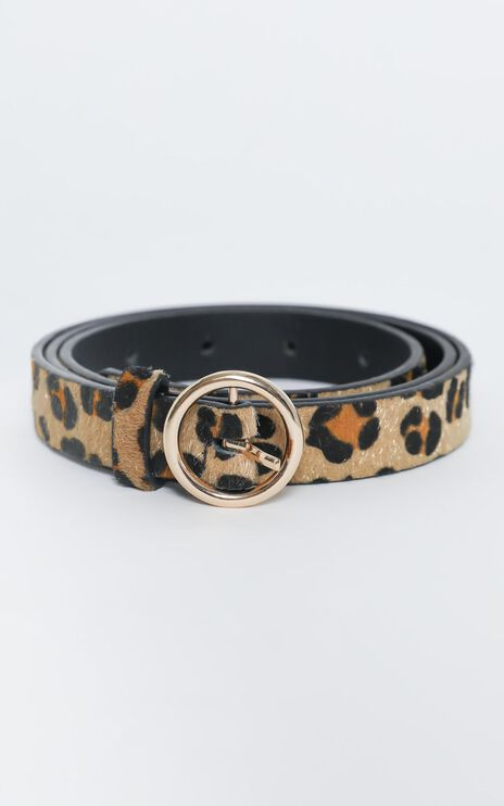 The Perfect Belt in Leopard and Gold