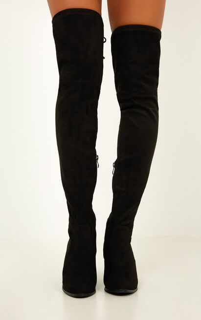 Therapy Shoes - Ambrose Boots in black micro - 10, Black, hi-res image number null