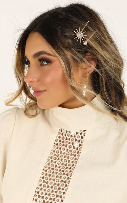 Found The Love Hair Pin 2 Pack In Gold, , hi-res image number null