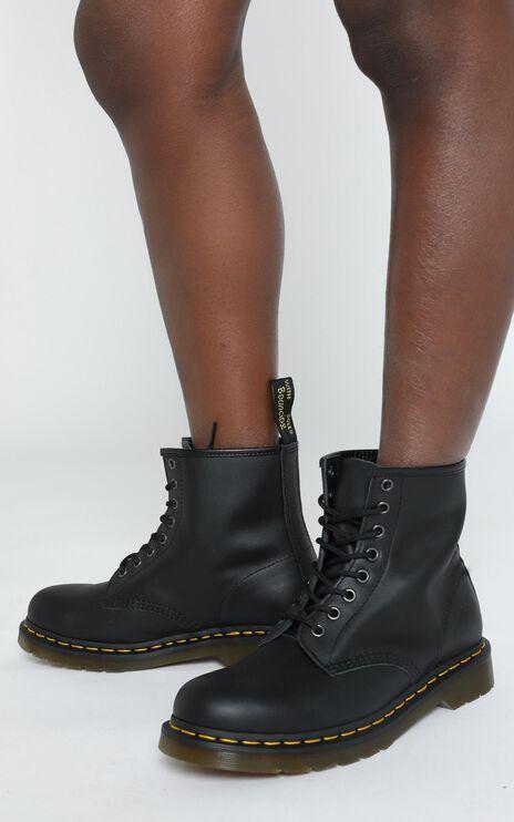 Dr. Martens - 1460 Nappa 8 Eye Boot in Black Nappa