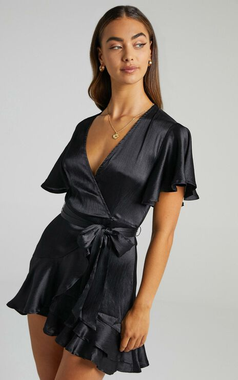 All I Want To Be Dress in Black Satin