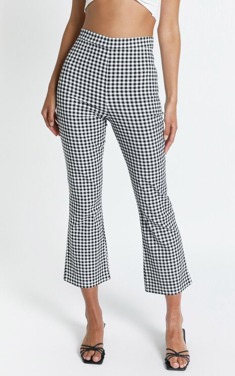 Clarisa Pants in Black Check