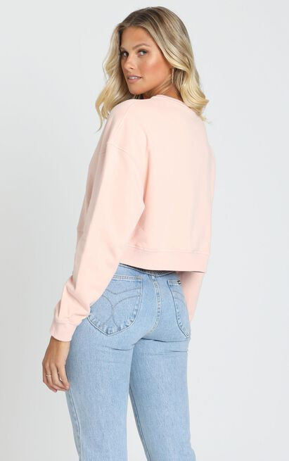 AS Colour - Crop Crew in Pale Pink - 6 (XS), Pink, hi-res image number null