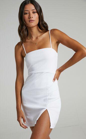 Island Babe Mini Dress in White
