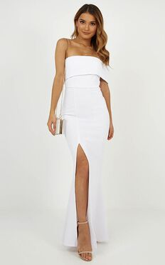 Glamour Girl Maxi Dress In White