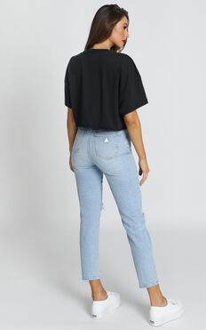 Abrand - A '94 High Slim Jeans In Gina Rip