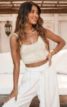 Radiance Knit Top In Cream