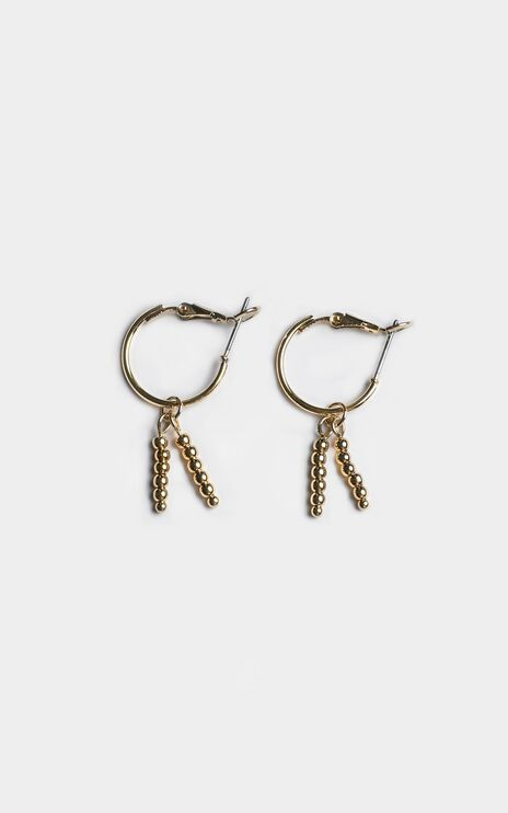 Minc Collections - Tropic Charm Hoop Earrings In Gold