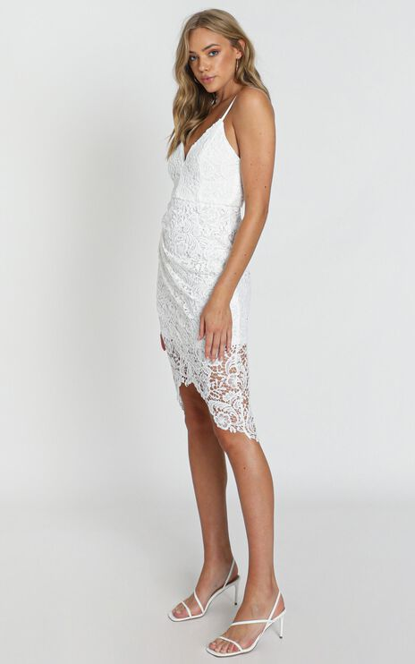 Typical Lover Dress In White Lace