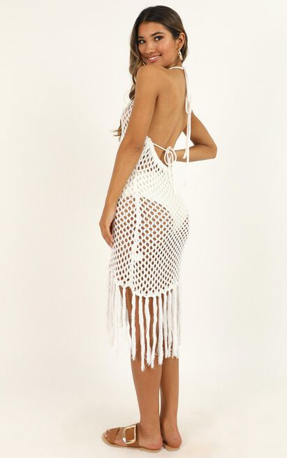 Sandy Days Dress in cream - 12 (L), White, hi-res image number null