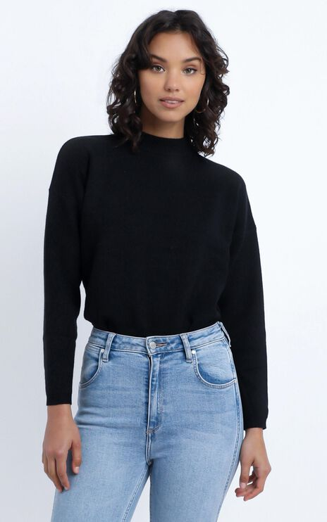 Midnight Glow Knit Jumper in Black