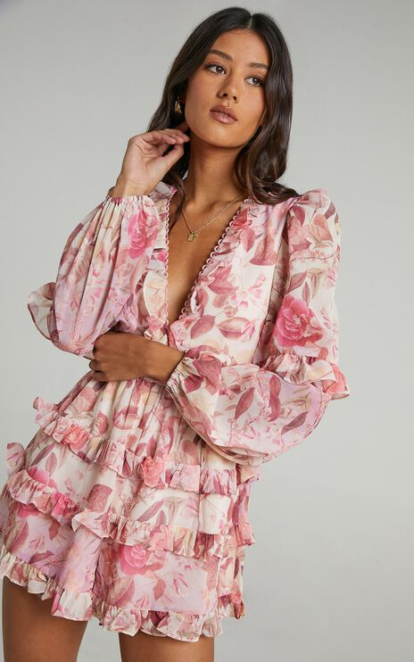 Liadi Playsuit in Soft Floral