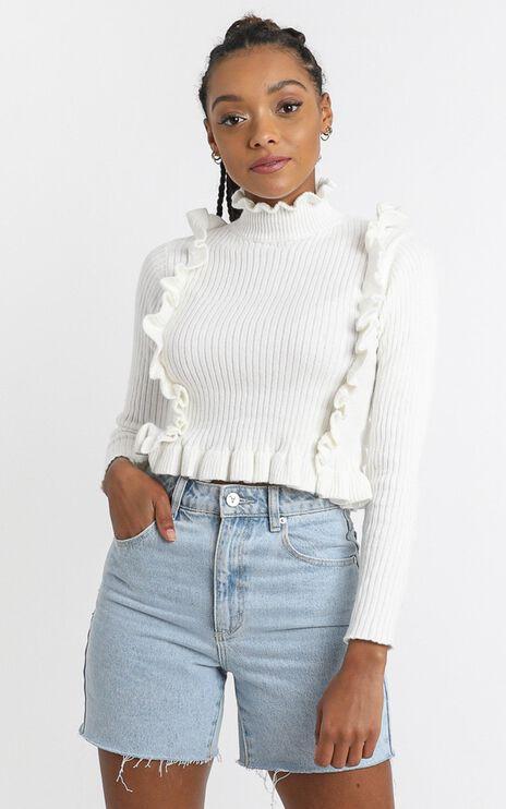Katerina Knit Top in White