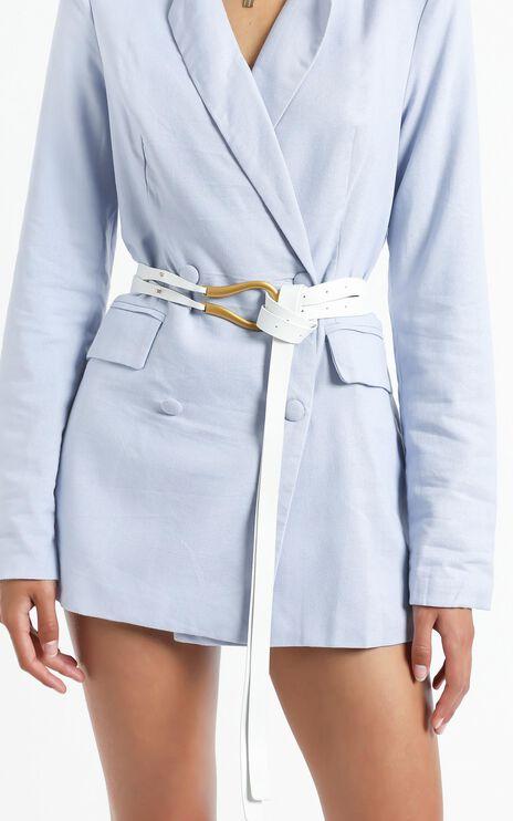 Jaymie Belt in White