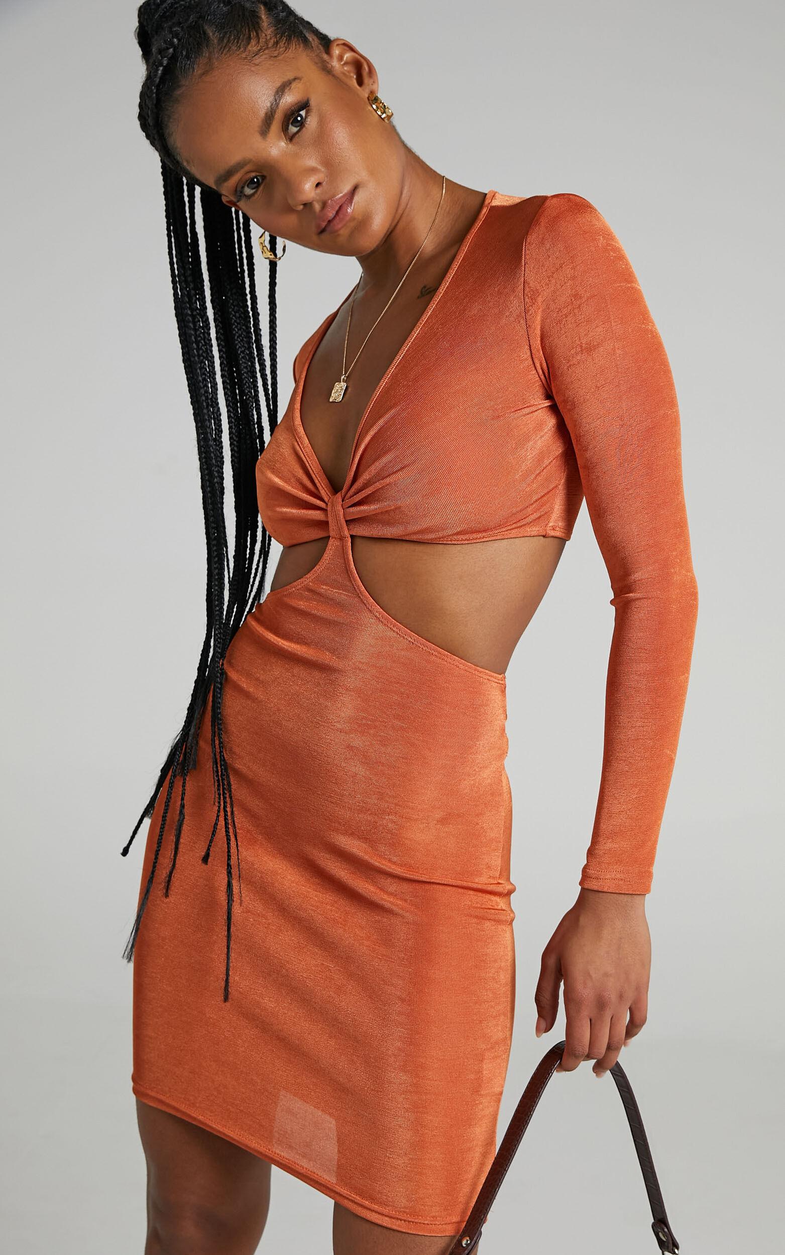 Vivvy Dress in Copper - 06, ORG1, super-hi-res image number null
