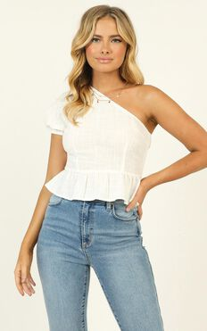 Sweet Harmony One Shoulder Top In White