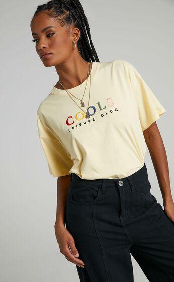 Cools Club - Leisure Club Boxy Tee in Lemon