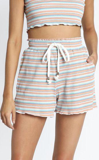 Zya The Label - Sweet Escape Shorts in Pastel Stripe