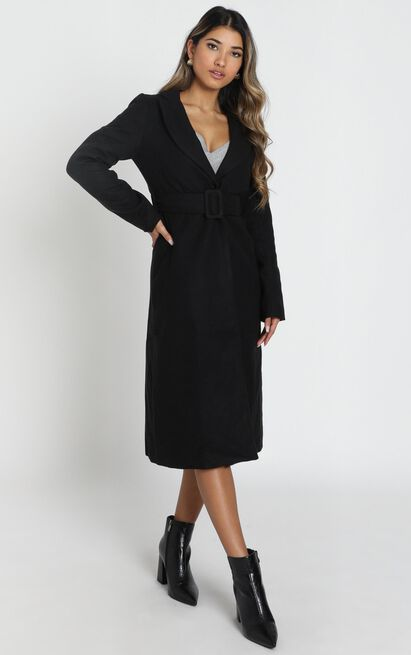 Green With Envy Coat in black - 14 (XL), Black, hi-res image number null